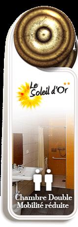 Chambre double Mobilité réduite | Hotel Soleil d'Or